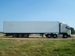 Andersons Transport Truck and trailer side view