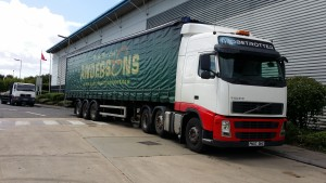 Andersons Transport Trailer and unit at warehouse.