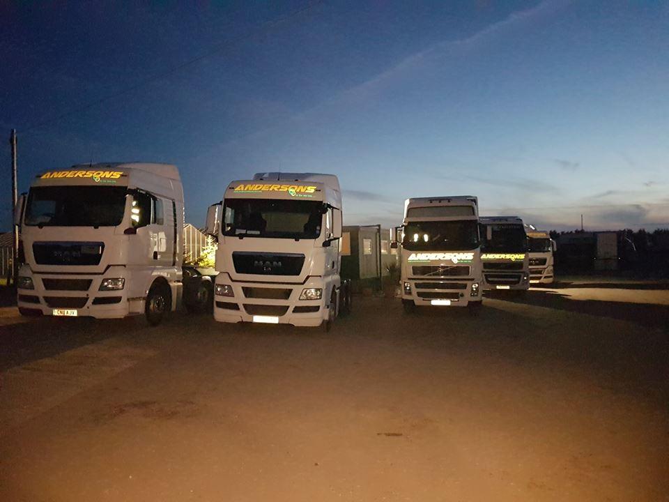 4 HGV Andersons Transport trucks