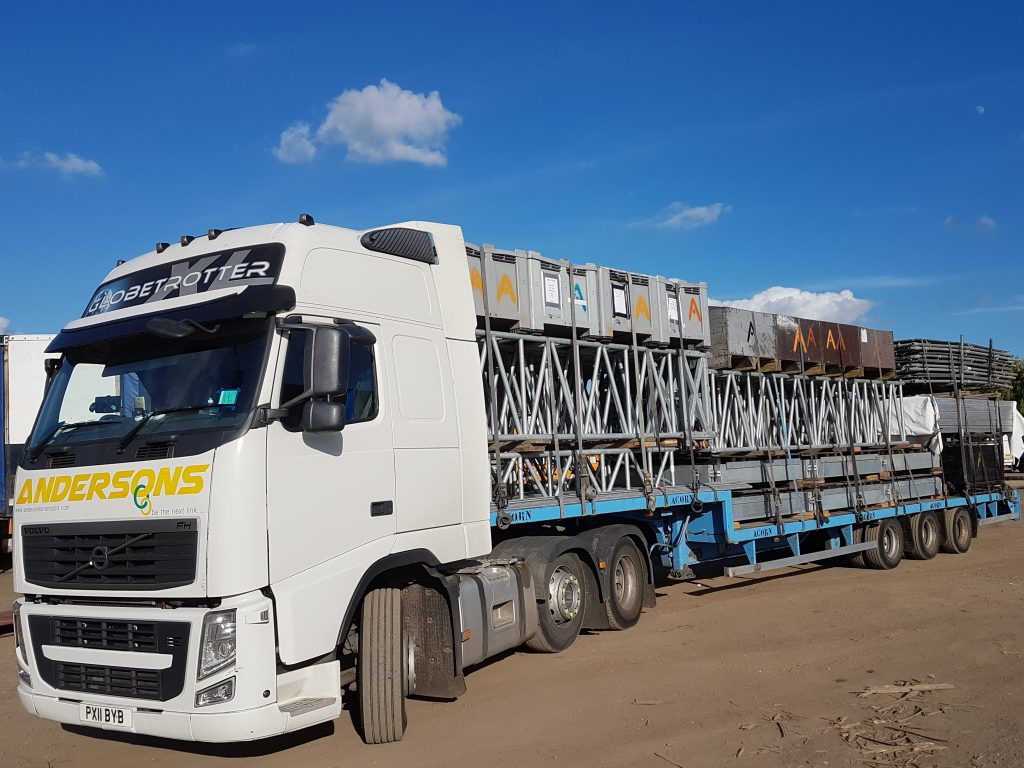 Andersons Lorry Loaded With Scaffolding