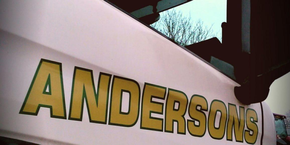 Andersons Transport Haulage and Logistics Lorry Door