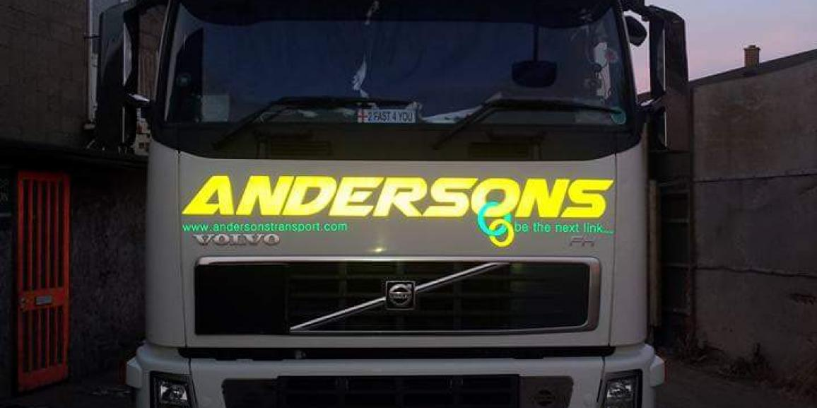 Andersons Reflective Vehicle Livery Logo 2015