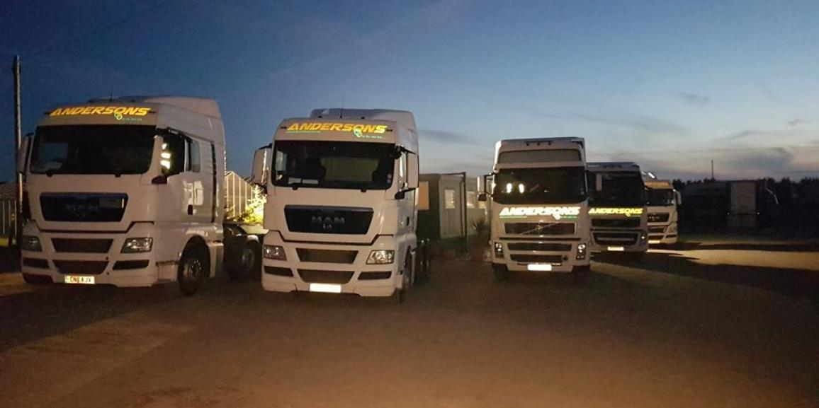 Andersons Transport at Night
